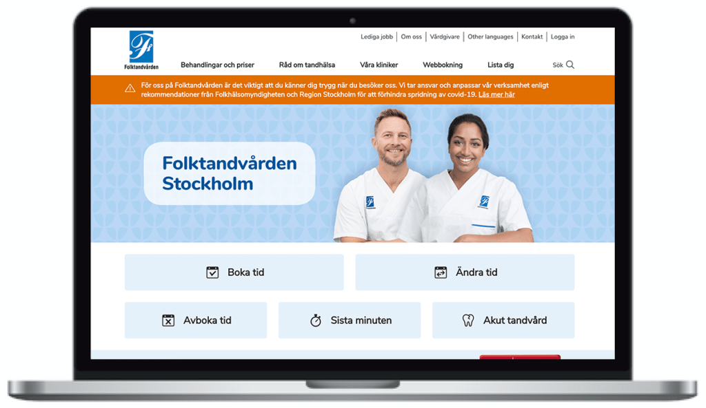 Folktandvårdens webbplats