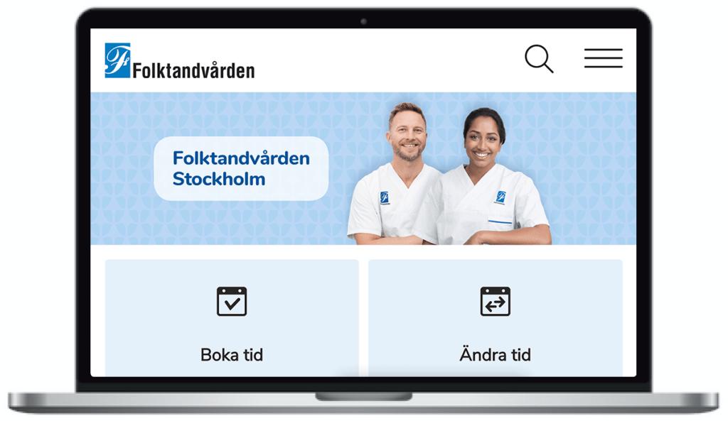 Folktandvården Stockholms webbplats.