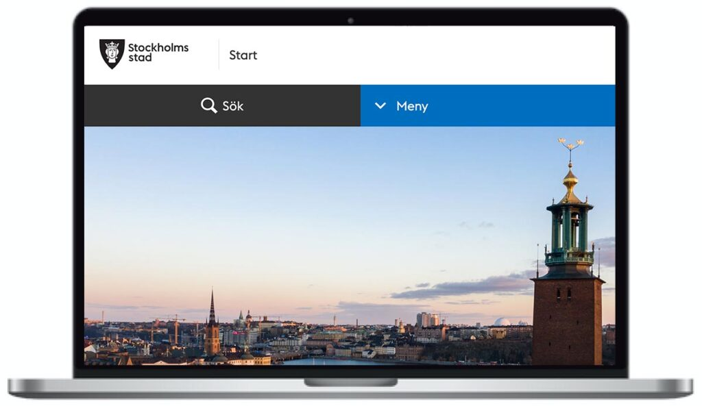 Stockholms stads webbplats
