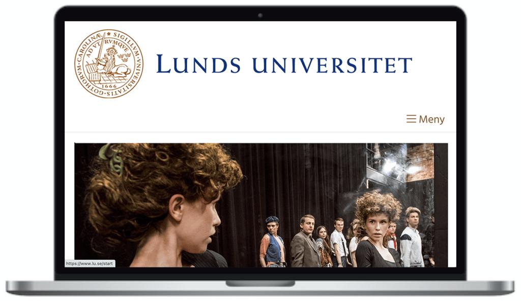 Lunds universitets webbplats