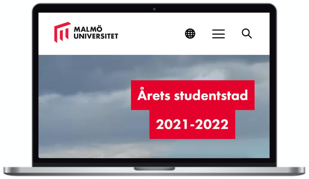 Malmö universitets webbplats